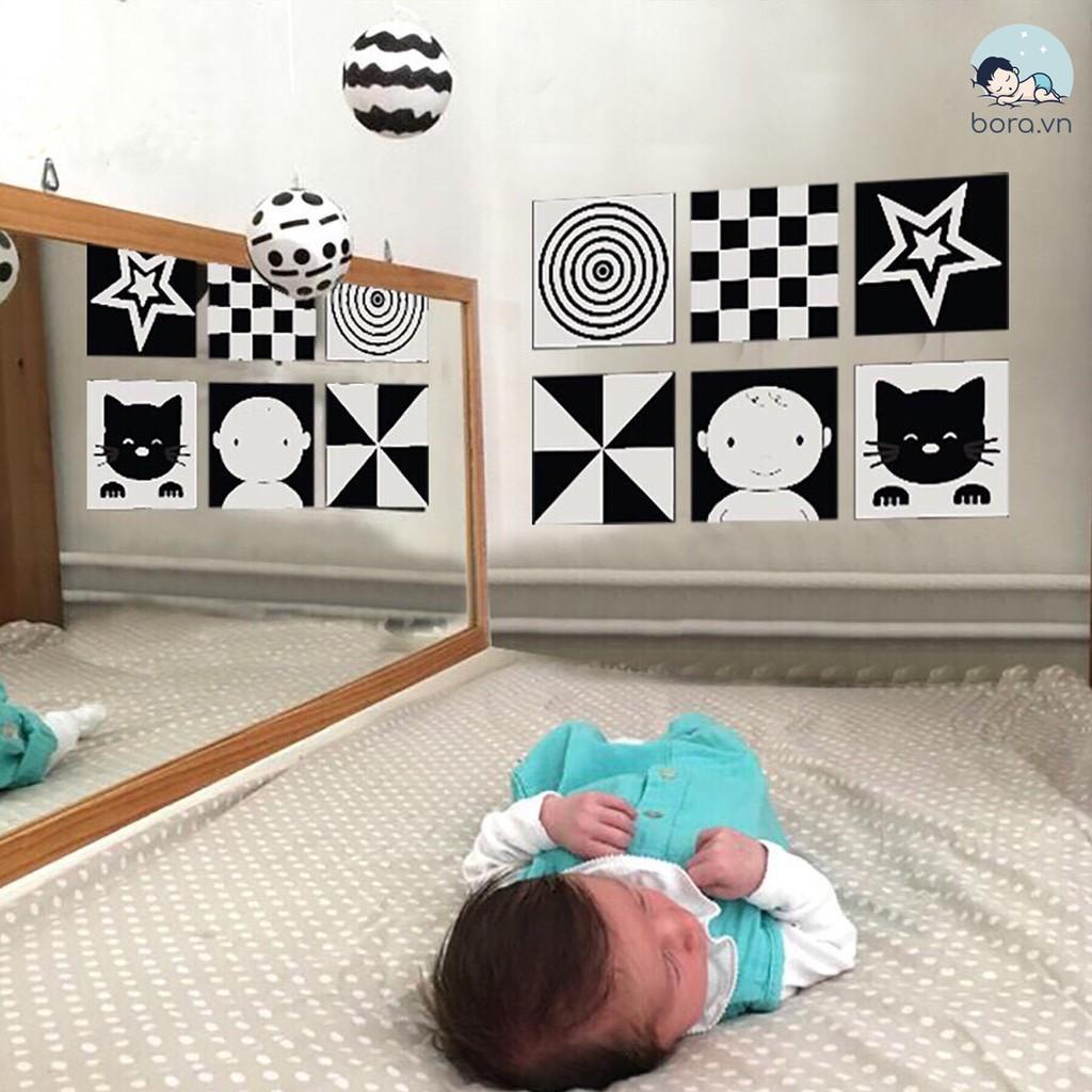 Thẻ kích thích thị giác cho bé sơ sinh, thẻ decal dán tường