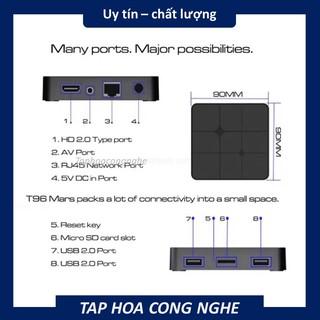 (2+16GB)TVBOX T96 MARS HỆ ĐIỀU HÀNH ANDROID XEM TV CÁP VÀ PHIM HD MIỄN PHÍ có hỗ trợ bluetooth (Bảo hành bởi 6 tháng)
