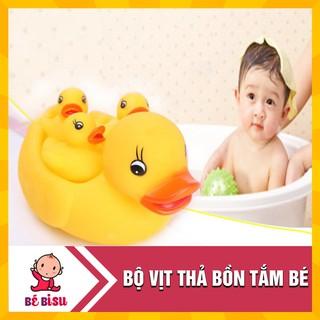 [Nhập TOYHAPPY giảm 10%]Vịt thả bồn tắm phát nhạc 1 mẹ 3 con cho bé
