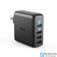 Sạc Anker PowerPort Speed 4 - 43.5W, 4 Cổng, QC 3.0