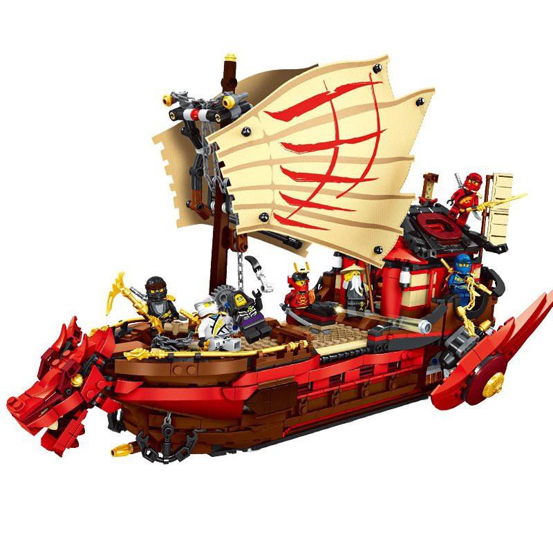 Lego Ninjago – 818 98065 Tàu Rồng Dạng Rút Gọn 566 pcstàu chiến Destiny's Bounty