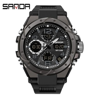 Đồng hồ nam SANDA 6018 chính hãng viền thép xoáy , chống nước bền bỉ , mạnh mẽ-Gozid.watches thumbnail