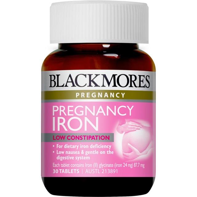 VIÊN UỐNG BỔ SUNG SẮT CHO BÀ BẦU ÚC - BLACKMORES PREGNANCY IRON 30