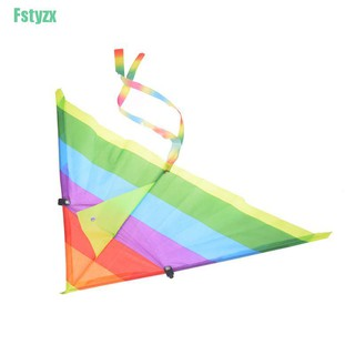 fstyzx 1PC Rainbow Kite Outdoor Baby Toys For Kids Kites without Control Bar and Line