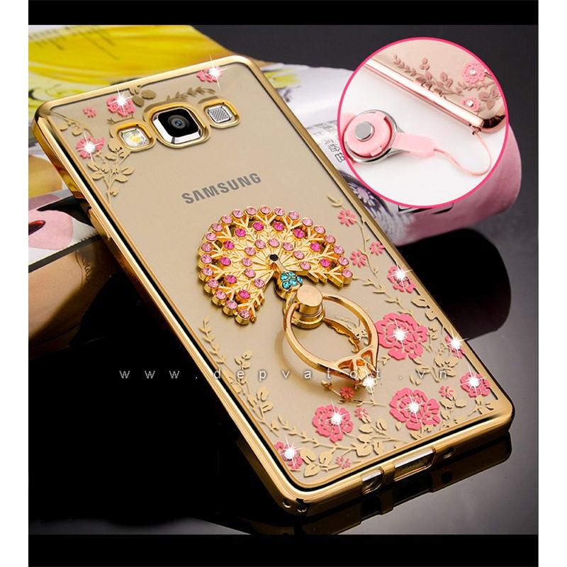 Ốp lưng Samsung A8 dẻo hình hoa