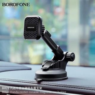 Giá đỡ điện thoại kẹp điện thoại cho xe hơi có hít nam châm với khung giữ chống rung chống rớt Borofone BH21