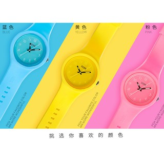 Đồng hồ thời trang unisex (nam - nữ) dây cao su cao cấp Geneva GE055