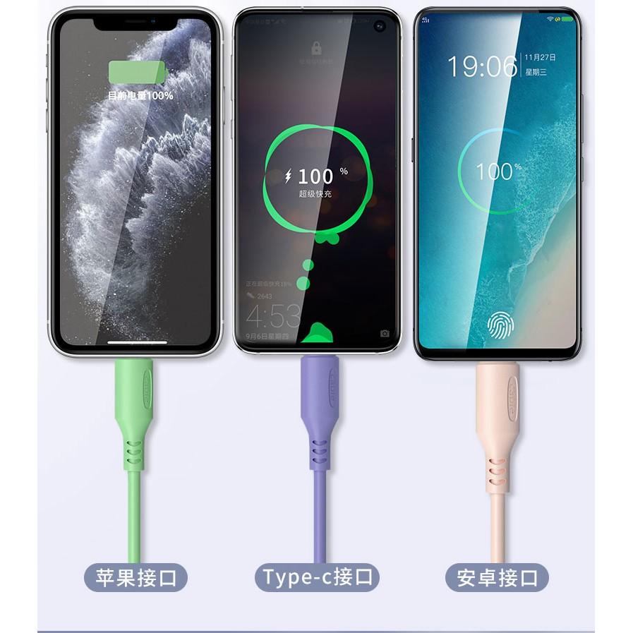 Dây Cáp Sạc 3 Trong 1 Bằng Silicon Cho Samsung Oppo Xiaomi Huawei