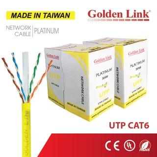 [Taiwan] Cáp mạng GoldenLink Đài Loan CAT6 UTP cho LAN WAN CCTV Camera PoE BootRom - Dài 05m 10m 20m Golden Link thumbnail
