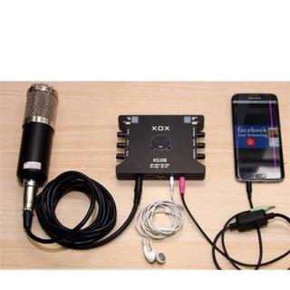 [Freeship toàn quốc từ 50k] Combo Mic thu âm Bm800 soundcard xox ks108 dây live ma2 ( 4 món)  tặng tai nghe akg