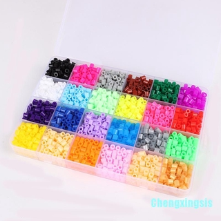 [CX] 24 Colors 5mm Hama Beads Toy Fuse Bead for Kids DIY Handmaking 3D Toys
