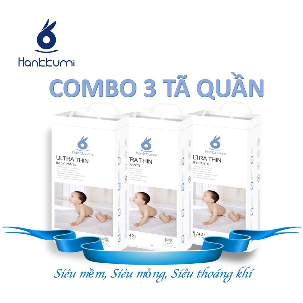 Combo 3 Tã/ Bỉm quần Hankkumi Size M, L, XL, XXL