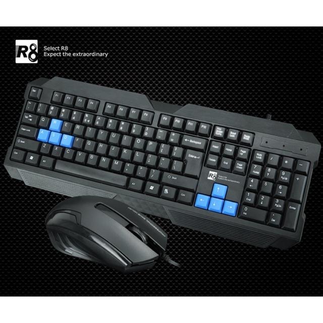 [SALE 10%] Combo bàn phím có dây + chuột dây, mouse + keyboard R8-1906