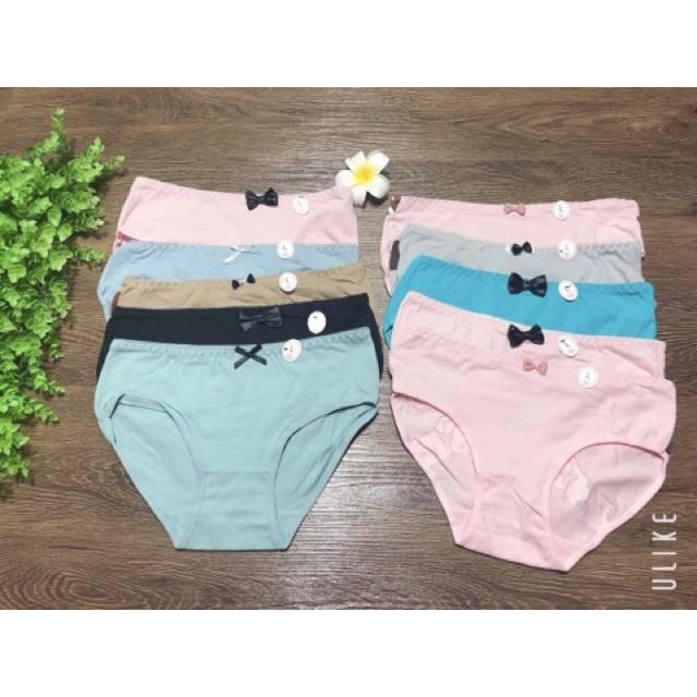 Quần lót cotton cute cho bạn gái combo 10 quần QLCUTE168 hàng sịn cao cấp