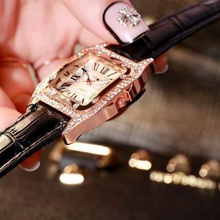 Đồng hồ thời trang nữ DZG đính đá sang trọng HT418
