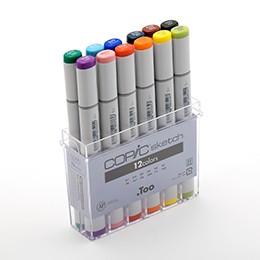 Bộ 12 màu bút marker Copic Sketch