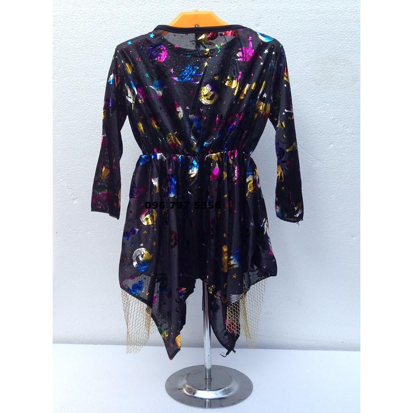 Bộ Váy kèm mũ hóa trang phù thủy size cho trẻ em và người lớn-_ảnh thật nhá ( full box...