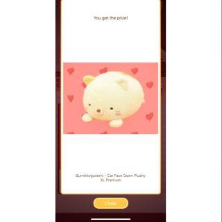 Gấu bông nhật – Sumikko Gurashi Cat Face Down Plushy XL Premium