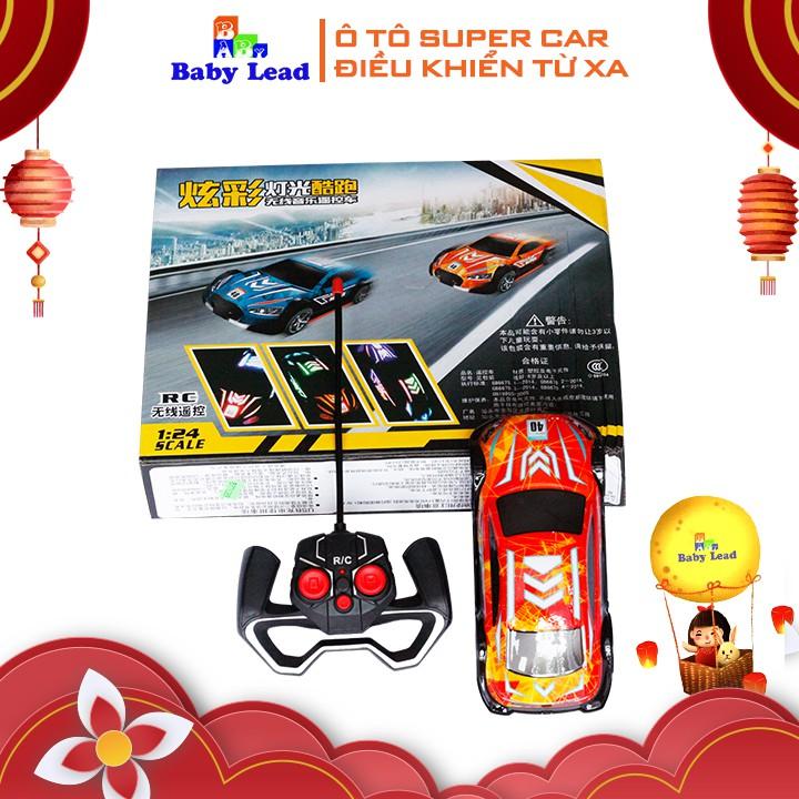 Ô tô điều khiển Super Car Babylead điều khiển cầm tay có đèn và nhạc cực sôi động BBL72