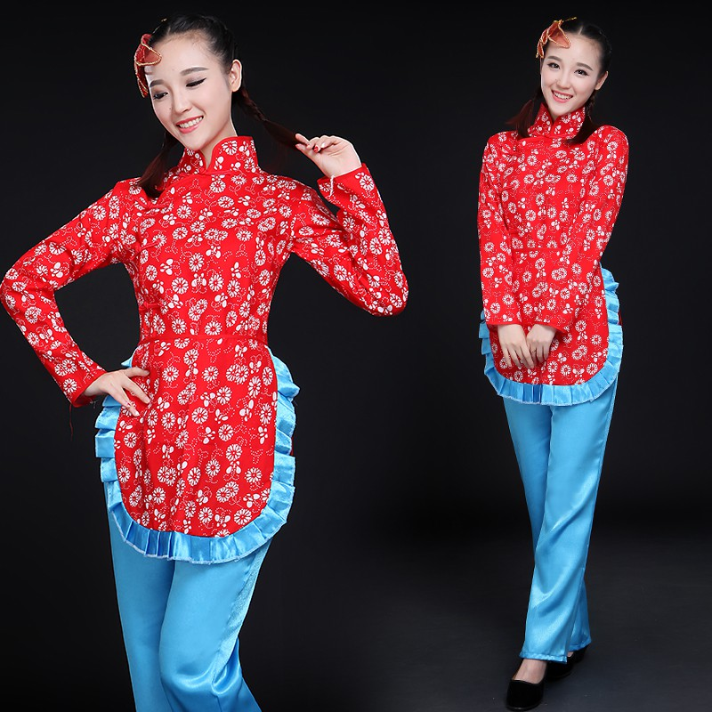 Lm07vn10 pieces from the delivery! A Qing dynasty drama costumes floral yangko