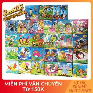 Tranh Xếp Hình 16 Mảnh Ghép Hình Bằng Gỗ Cho Bé 1-10 Tuổi