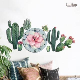 Set Tranh Đồng Hồ treo tường Cactus Xương Rồng LuHau