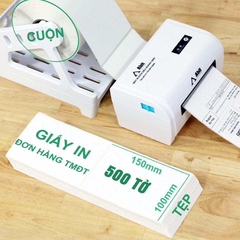 500 tờ giấy in đơn hàng Shopee và sàn TMĐT cho máy in Abit Q900 Xprinter XP DT108B 470B, HPRT N41 EK100 sz 100 x 150mm