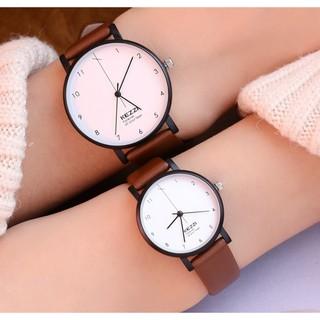 Đồng hồ nam nữ Kezzi 1772 hàng chính hãng dây da thật