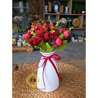 [MUA NHIỀU] Hoa lụa trang trí phòng khách và quán cafe | Hoa decor hand made 100%