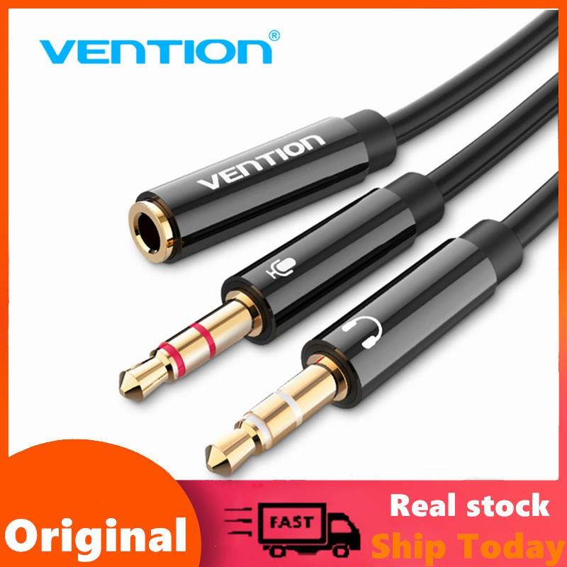 Cáp nối dài âm thanh Vention chia 2 đầu giắc cắm 3.5mm