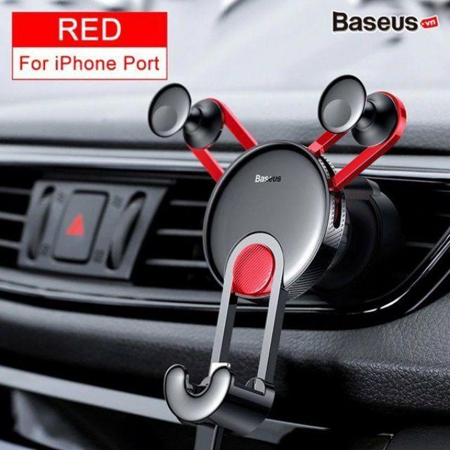 [ Sỉ - Lẻ ] Bộ đế giữ điện thoại trên xe hơi Baseus YY Vehicle-mounted (Gắn khe gió, kèm cáp sạc Type C/ Lightning)