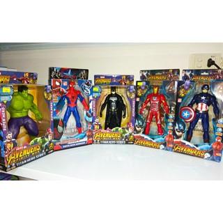 Mô hình siêu anh hùng Avengers. Người sắt (Iron Man) / Người nhện (Spider Man)/ Người Dơi (Batman)/ khổng lồ xanh (Hulk)