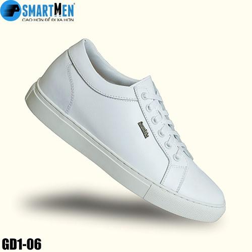 Giày Da bò nguyên miếng Sneaker tăng chiều cao SMARTMEN GD106