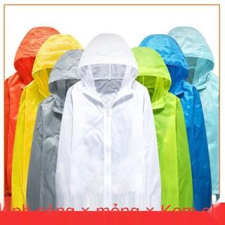 Quần áo chống nắng cho nam và nữ, mùa hè mỏng, thoáng khí nhanh khô, da thể thao ngoài trời cặp đôi size lớn, khoác