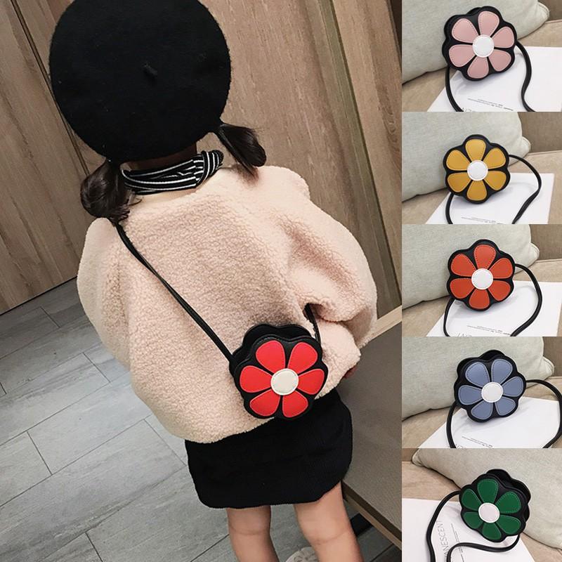 Túi đeo chéo mini in hoa dễ thương cho bé gái