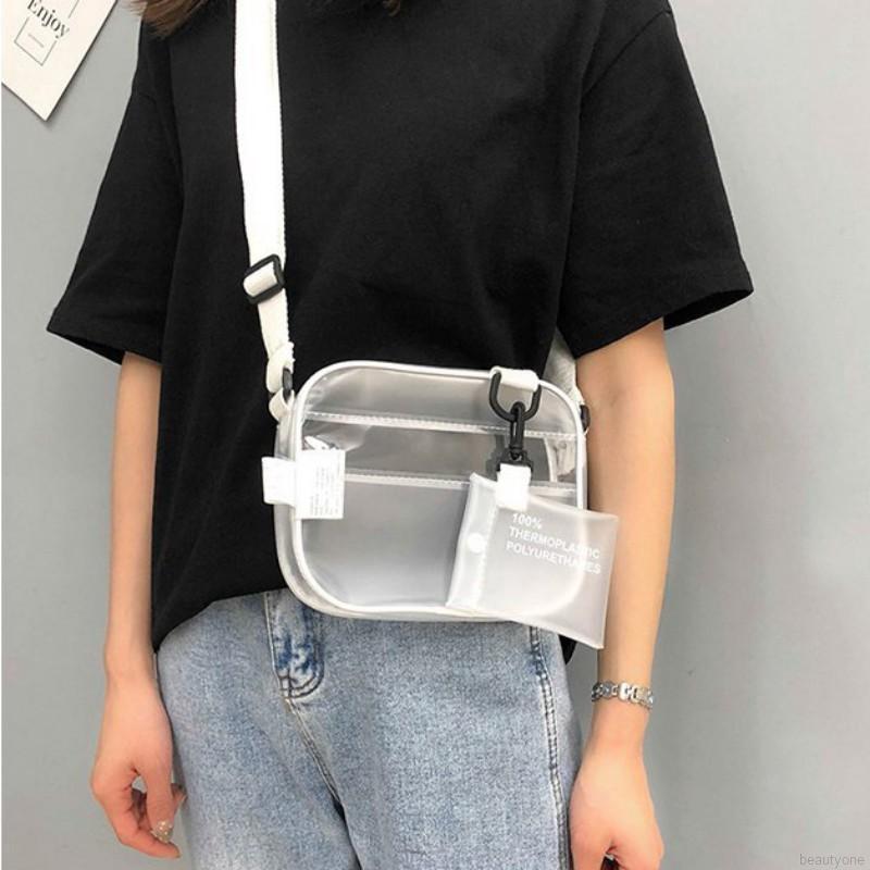 Túi đeo chéo hình vuông thiết kế trong suốt độc đáo