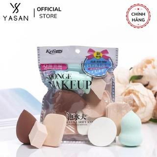 Set 6 bông mút trang điểm siêu cute đẹp mịn đàn hồi cực tốt, miếng mút trang điểm, tán kem, tán phấn Yasan thumbnail