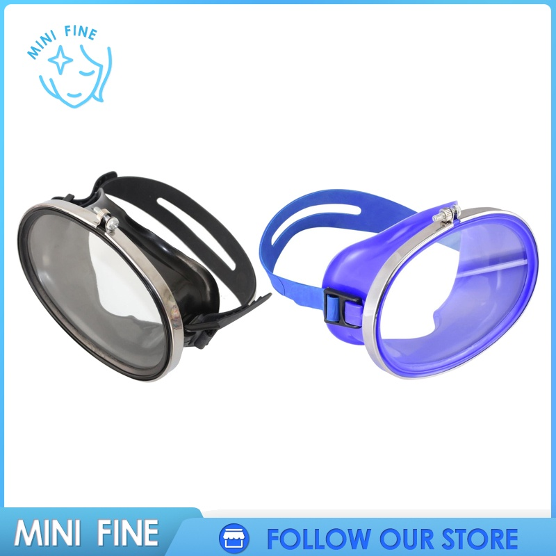 【mini fine】 Retro Oval Classic Single Lens Snorkel Silicone Dive Mask