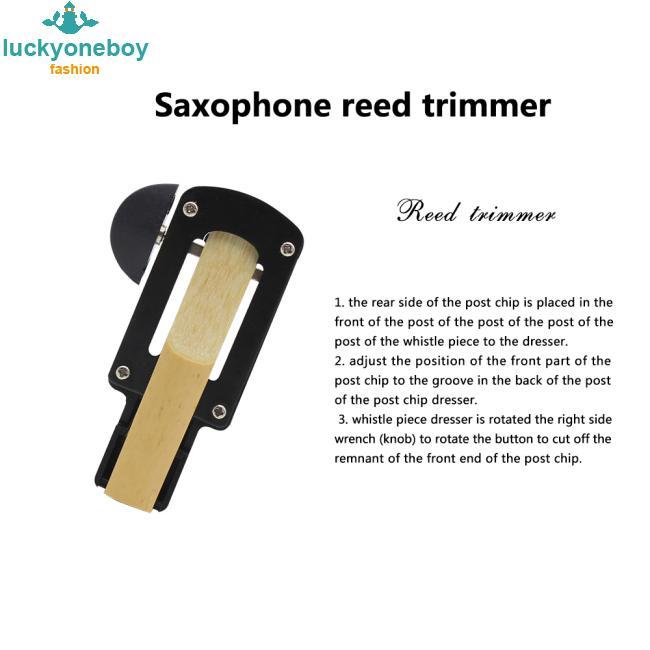 Practical Tenor/Alto/Soprano Saxophone Reeds Corrector B Flat Sax Reed Trimmer