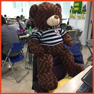 Gấu bông Teddy Cao Cấp khổ vải 1m Cao 80m màu Nâu hàng VNXK- Quà Tặng Yêu Thương