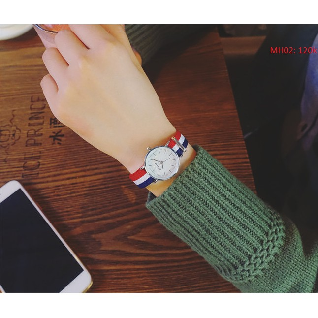 Đồng hồ nữ Ulxxang dây vải đẹp