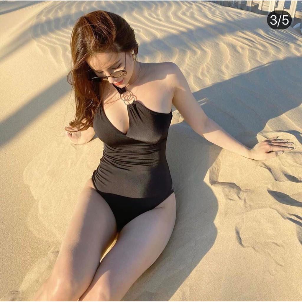 Bikini lệch vai phối khoen