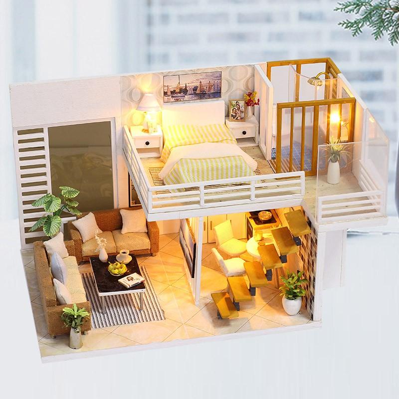 Bộ mô hình nhà gỗ DIY:Ngôi Nhà Mơ Ước K 031