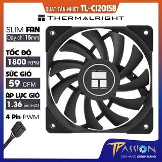 Quạt Fan case 12cm Thermalright TL-C12015B Super Slim - Chính hãng, mỏng 15mm, quay êm, tản nhiệt tốt thumbnail