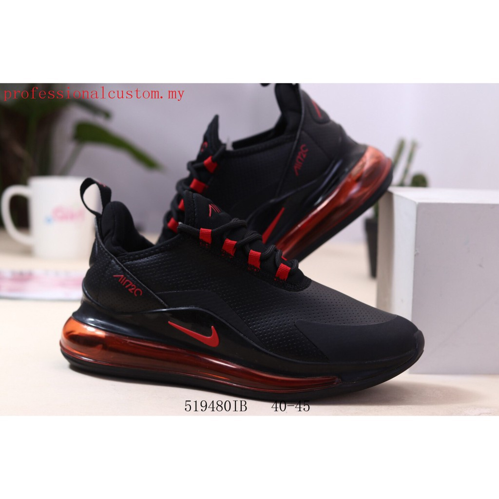 New Arrival Nike Air Max 720 Men Comfortable Sports Running shoes black red