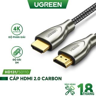 Cáp HDMI 2.0 Carbon chuẩn 4K độ dài từ 1-5m UGREEN HD131 - Hàng phân phối chính hãng - Bảo hành 18 tháng thumbnail