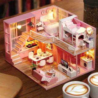 Mô hình nhà gỗ búp bê Dollhouse DIY – Kèm mica – L026 Dream Angel