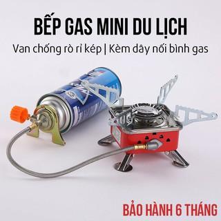 Bếp Gas Mini Du Lịch Bếp Gas Du Lịch Gấp Gọn Phù Hợp Dã Ngoại Đi Phượt Kèm Đầu Nối Van Gas thumbnail