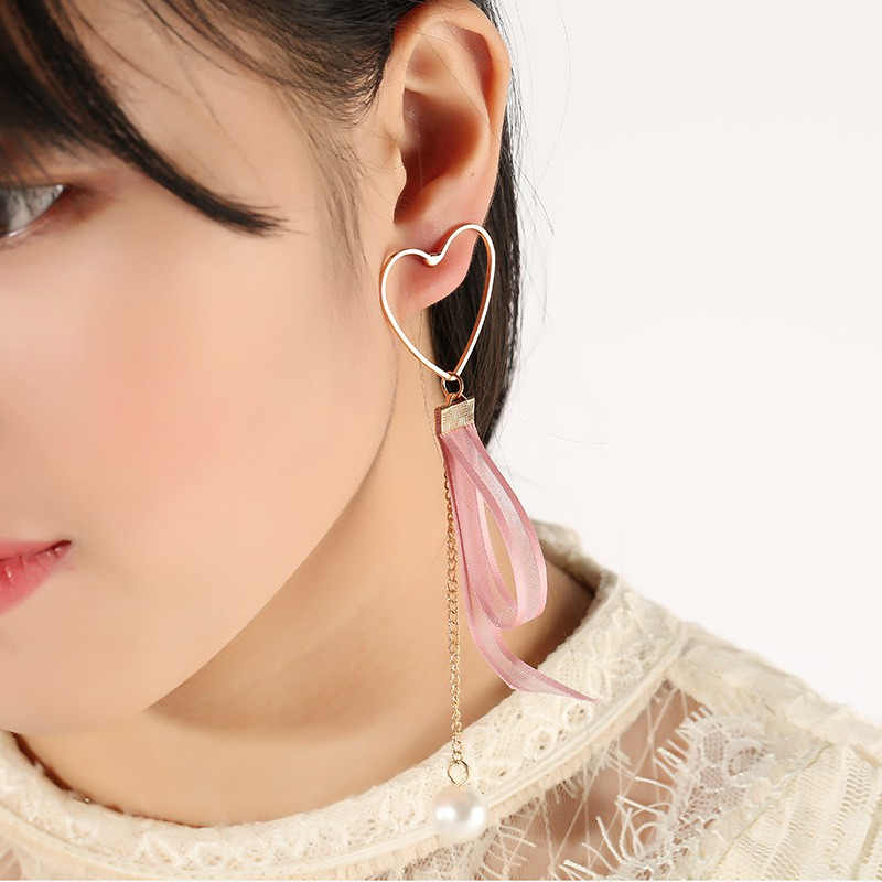 Bông tai vàng hình trái tim Hàn Quốc ADBnet  Khuyên tai bông tai hoa mai nữ đơn giản