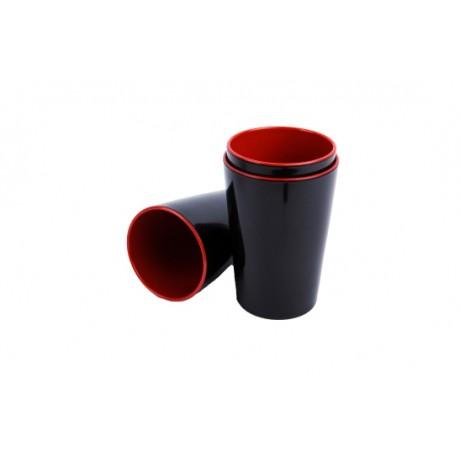 combo 5 cái ly,cốc cao 12cm nhựa melamine ca cốc tách chén uống nước trà (đỏ đen)